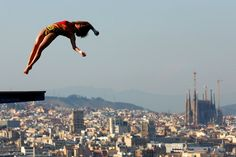 Chen Ruolin of China competes in the Women's 10m Platform Diving final  on day six of the 15th FINA World Championships at Piscina Municipal de Montjuic on July 25, 2013 in Barcelona, Spain.