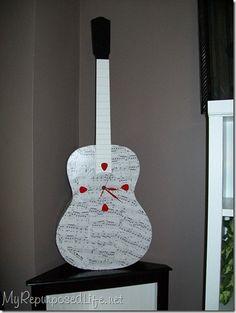 Repurposed Guitar into a Clock