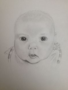 Day Something New. Our New Niece - Lily-pad Evans. By Teena McDougall. Baby Sketch, 30 Day Drawing Challenge, Lily Pad, Evans, Drawings, Art, Sketch, Kunst, Portrait