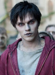 Still from the upcoming film adaption of the book Warm Bodies. Nicholas Hoult (About A Boy) stars as a zombie who falls in love with a human. While I think the storyline is sacrilege to the zombie genre, there's no denying how hot Nicholas is as a zombie! Nicholas Hoult, Jake T. Austin, Cute Zombie, Awkward Zombie, Zombie Make Up, Zombie Walk, Fantasias Halloween, Zombie Movies, Halloween Disfraces