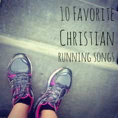 """10 favorite Christian running songs to add to your playlist!  I only have a couple if these songs, but what's funny is my """"HE>I"""" playlist is my favorite to listen to when I run."""