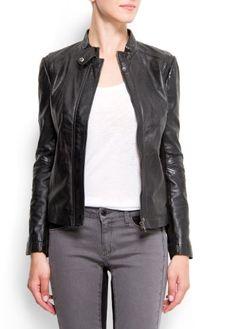 Buy Mango Women's Biker Leather Jacket