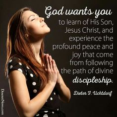 Follow the path of divine discipleship