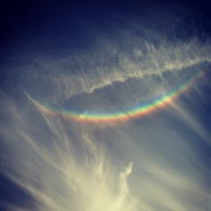 Rainbow sky smile