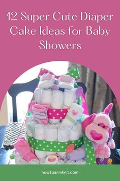 Look at these 12 Super Cute Diaper Cake Ideas for Baby Showers These Cakes are so adorable and fun to make! These baby diaper cakes are just so awesome you and your baby are going to love this! #12SuperCuteDiaperCakeIdeasforBabyShowers #Diapercakes #Cakes #Baby #Patterns Diaper Cakes, Baby Patterns, Baby Items, Baby Showers, Cake Ideas, Free Pattern, Crafts For Kids, Best Gifts, Super Cute
