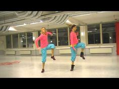 Zumba dance for a little more than 3 min. Such a good cardio and many squats (by zumba twins)