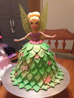 Tinkerbell Barbie Cake