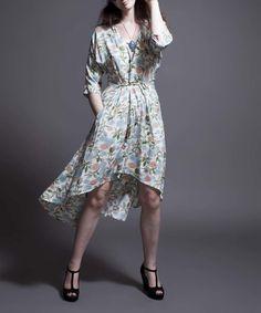 Loving this White Floral Karen's Kyoto Dress on #zulily! #zulilyfinds