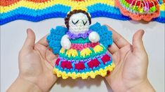 ANGELITO TEJIDO A CROCHET PASO A PASO - YouTube Lana, Crochet Necklace, Crochet Hats, Youtube, Tricot Crochet, Gifs, Amigurumi, Chrochet, Toys