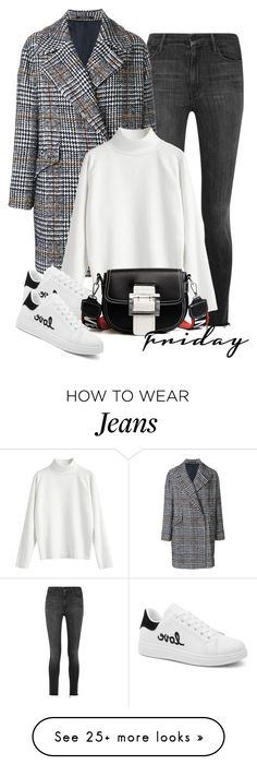 """Casual Friday: Statement Coats"" by beebeely-look on Polyvore featuring Mother, Tagliatore, StreetStyle, casual, casualfriday, statementcoats and gamiss"