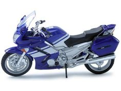 """2006 Yamaha FJR 1300 Motorcycle 1/12 Blue w/White by Motorcycles. $10.09. Ideal gift for motorcycle lovers and enthusiasts. Detailed design, workable steering. Approx. 6.5"""" long. Yamaha FJR 1300 2006 1:12 scale diecast motorcycle by Maisto. A must have for your motorcycle collection. Beautifully crafted 2006 Yamaha FJR 1300 Diecast Motorcycle Model 1:12 scale die cast from Maisto. Great replica in scale. This is a very highly detailed 2006 Yamaha FJR 1300 Diec..."""