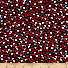 Scottie Love Love Me Hearts Black from @fabricdotcom  Designed by Maria Kalinowski for Kanvas in association with Benartex, this cotton print fabric will make your heart swell! Perfect for quilting, apparel and home decor accents. Colors include white, black and shades of red and grey.