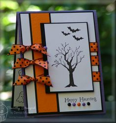 Haunting Sketch Card by Denise Marzec #Cardmaking, #Halloween