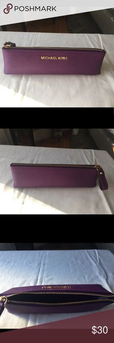 Michael Kors pencil case Michael Kors saffiano leather purple pencil case Michael Kors Other
