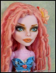 Operetta Monster High Doll repaint Monster High Doll Custom Repaints, OOAK Dolls and Doll Wigs  by Donna Anne Find me on Facebook Fantasy Dolls by DonnaAnne Shop: http://www.etsy.com/shop/fantasydolls #Monsterhigh #Monsterhighdoll #monsterhighrepaint #monsterhighcustom #monsterhighooak #custommonsterhighdoll