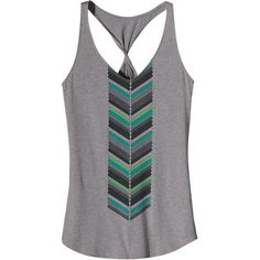 Patagonia Women's Astrid Twist Tank (120 BRL) ❤ liked on Polyvore featuring tops, shirts, tank tops, tanks, feather grey, racerback tank, racerback tank top, jersey shirt, feather shirt and graphic shirts