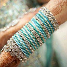 Elegant Glass and Silver Bridal Bangles Bridal Bangles, Silver Bangles, Wedding Jewelry, Silver Jewelry, Silver Ring, 925 Silver, Bangle Set, Bangle Bracelets, Hand Bracelet