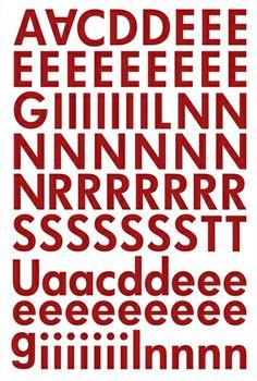 """Alphabet Sticker """"Lisa"""" – rot (Ergänzung)"""