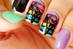 Uñas con palmeras para verano, diseños increíbles en http://mipagina.1001consejos.com/