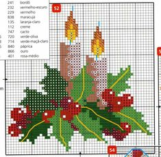 point de croix Noël *m@* Cross stitch natal