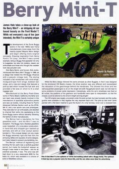 Berry Mini-T Buggy History 1/3