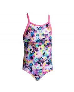 Toddler girl's one-piece swimsuit - Water garden Chlorine Resistant Swimwear, Girls One Piece Swimsuit, Off The Wall, Water Garden, Looking Gorgeous, Toddler Girl, Swimsuits, Collection, Women