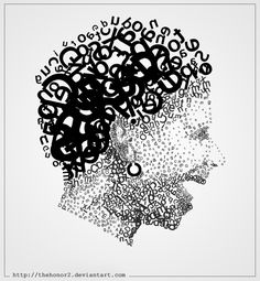 """As Robert Bringhurst, from The Elements of Typographic Style, once said, """"Typography exists to honor content. Typography Portrait, Typography Art, Typographie Inspiration, Letter Art, Letters, Types Of Art, Type Art, Illustrations And Posters, Word Art"""