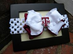 Bow Stretch Headband with TEXAS A&M Charm Center