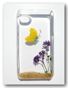 iPhone 4/4S case Resin with Real Flower and by Annysworkshop, $18.00