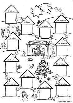 Vánoční cesta - Christmas Nativity, Christmas Games, Christmas And New Year, Christmas Crafts, Christmas Calendar, Advent Calendar, Winter Holidays, Christmas Holidays, Decor Crafts
