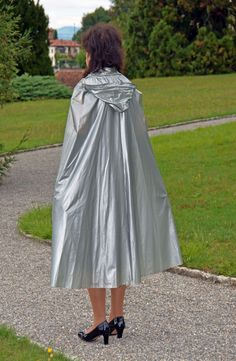 Capes, Rain Cape, Pvc Raincoat, Fashion Project, Raincoats For Women, Future Fashion, Rain Wear, Lady, Tulle