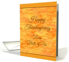 Thanksgiving From Both of Us - Abstract Autumn Colors card