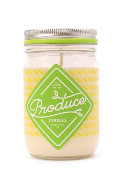 Snap Pea Produce Candle | Spring Seasonal