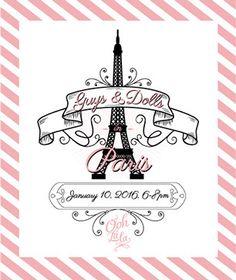 Logo Customization Design: Guys & Dolls Paris Vertical
