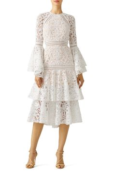 White Lace Luxe Dress by Alexis for $140   Rent the Runway