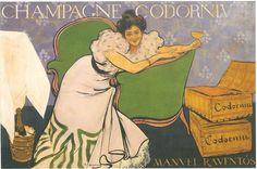 Lola Plumet (Champagne Codorniu), Ramon Casas (1898)
