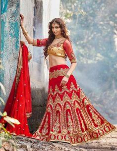 3b6c3584c Red Bridal Lehenga Collection 2016 For Brides Indian Bridal Lehenga