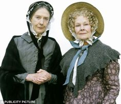 Judi Dench in Cranford: Victorian garter stitch shawl