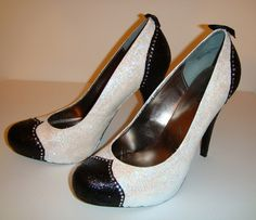 Fabulous Me wingtip pumps. Custom made!