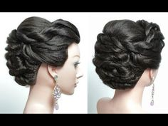 Twisted Updo. Bridal hairstyle for long hair. Tutorial - YouTube
