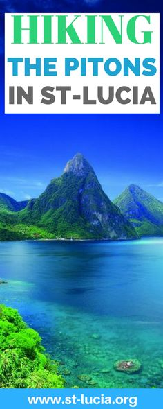 Hiking The Pitons: Gros Piton and Petit Piton Mountains. Hiking the Pitons of St Lucia will leave you breathless as you will the most wonderful views of the Caribbean Island. Truly paradise found on the mountains of the Caribbean island of Saint Lucia. If you are looking for things to do in St Lucia then hiking the Piton is what you must do #stlucia #stluciatravels #thepitonsstlucia