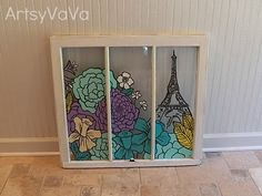 I have a old window gonna paint something in it,.