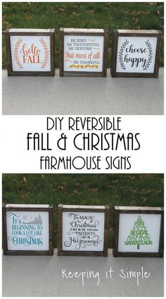 DIY Reversible Fall and Christmas Farmhouse Sign - Keeping it Simple Crafts