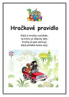 Krtkova Pravidla :: Msbystrice Creative Kids, Flower Crafts, Games For Kids, Motto, Kids Room, Classroom, Activities, Education, Comics