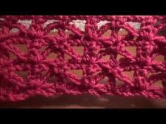 Puntada a crochet muy sencilla y fácil, ideal para tapetes o bufandas. - YouTube