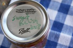 A jar of sweet pickle relish, labeled accordingly on the lid. Sweet Relish Recipe, Relish Recipes, Sweet Pickles, Pickle Relish, Preserving Food, Pasta Dishes, Food Hacks, Free Food, Breakfast Recipes