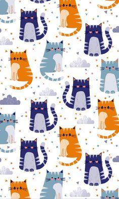 Si te gustan los gatos , te van a gustar estos estampados de gatos Ideales para forrar cualquier cosa o hacer una regalo Enlaces: h...