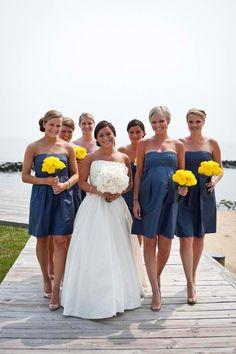 Yellow and Navy Wedding