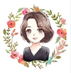 Custom watercolor digital cartoon portrait, caricatures, illustrations from photo, Cute personalized gift for family/friends to print. Cartoon Girl Drawing, Girl Cartoon, Cartoon Drawings, Cute Drawings, Cute Cartoon Images, Cute Cartoon Wallpapers, Dibujos Pin Up, Attractive Wallpapers, Portrait Cartoon