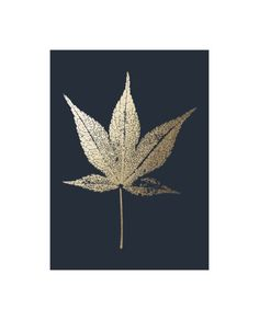 """""""Japanese Maple"""" - Foil-pressed Art Print by LemonBirch Design in beautiful frame options and a variety of sizes."""